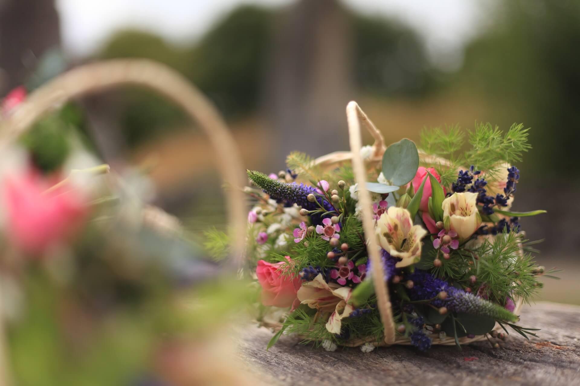 Blumen Im Koerbchen