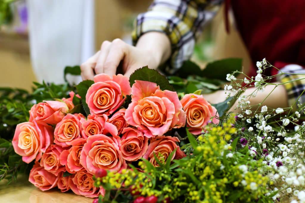 Floristin Mit Schnittblumen