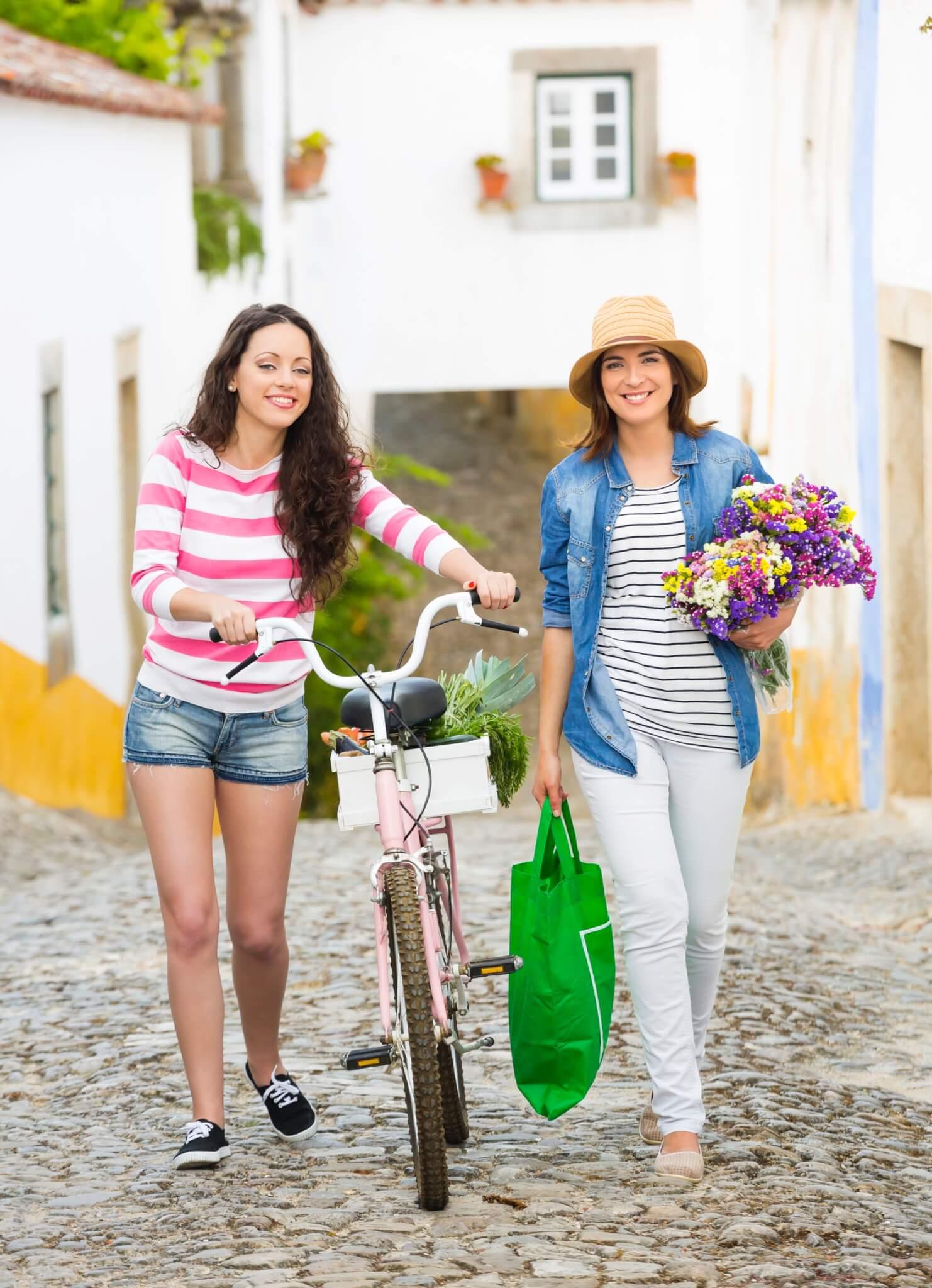 Freundinnen Kaufen Blumen