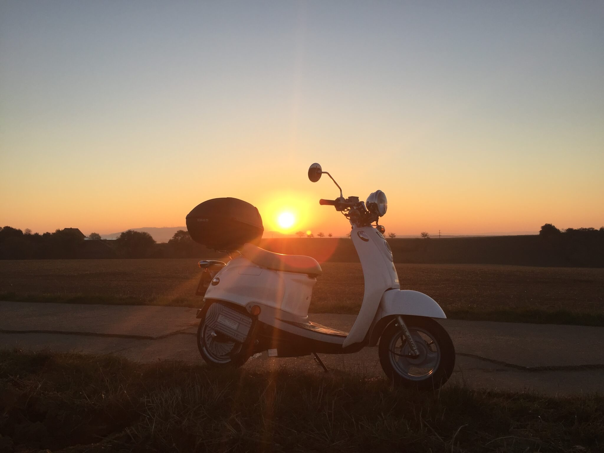 Sonnenaufgang Roller