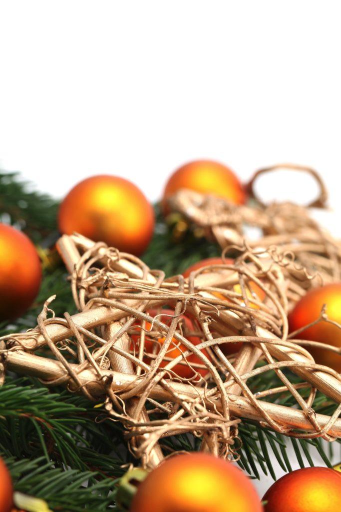 Weihnachtliche Deko Orange