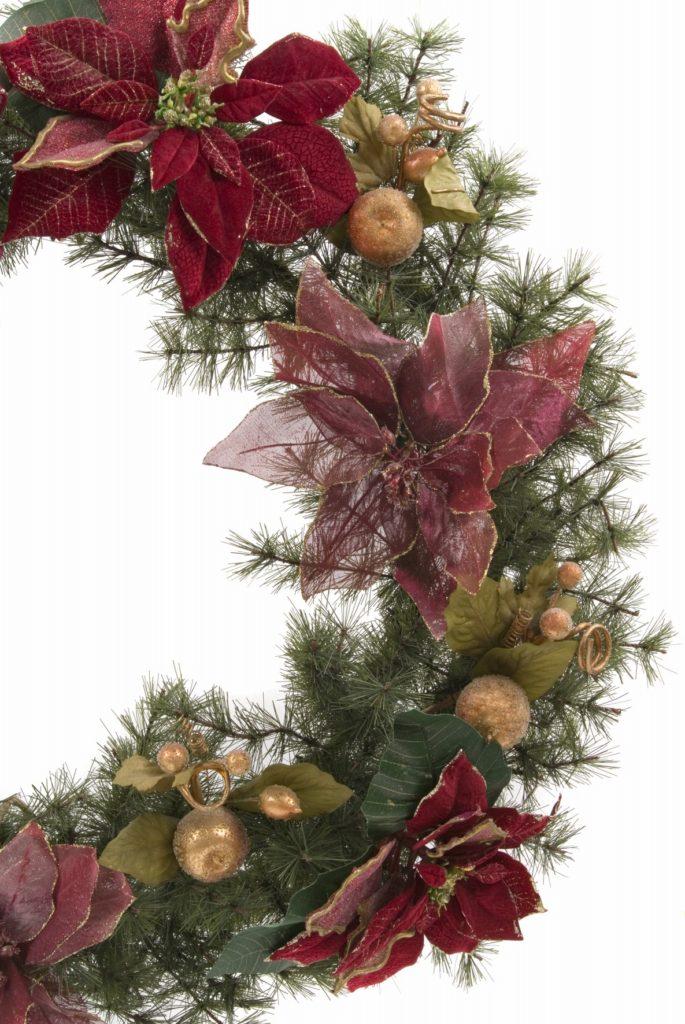 Weihnachtlicher Kranz Detailansicht